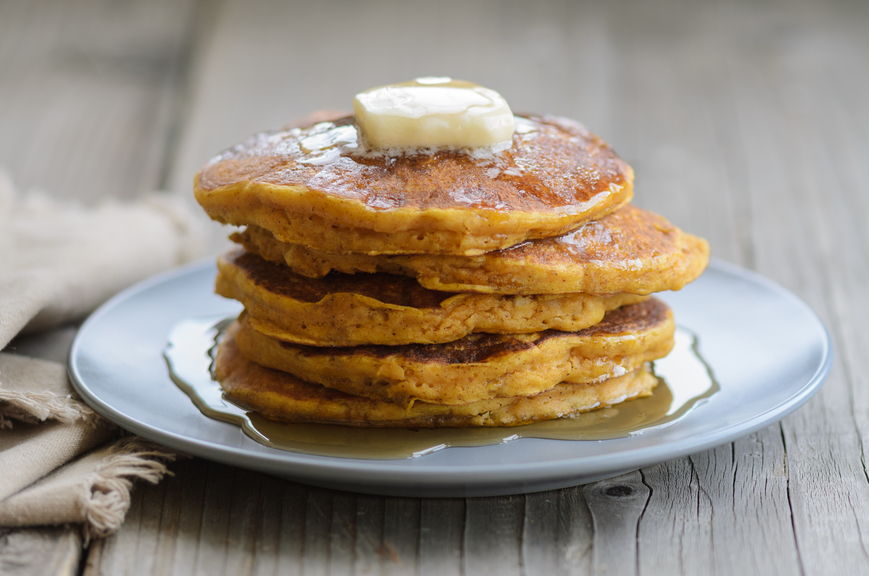 Savory Pancakes with Nueske's Applewood Smoked Bacon